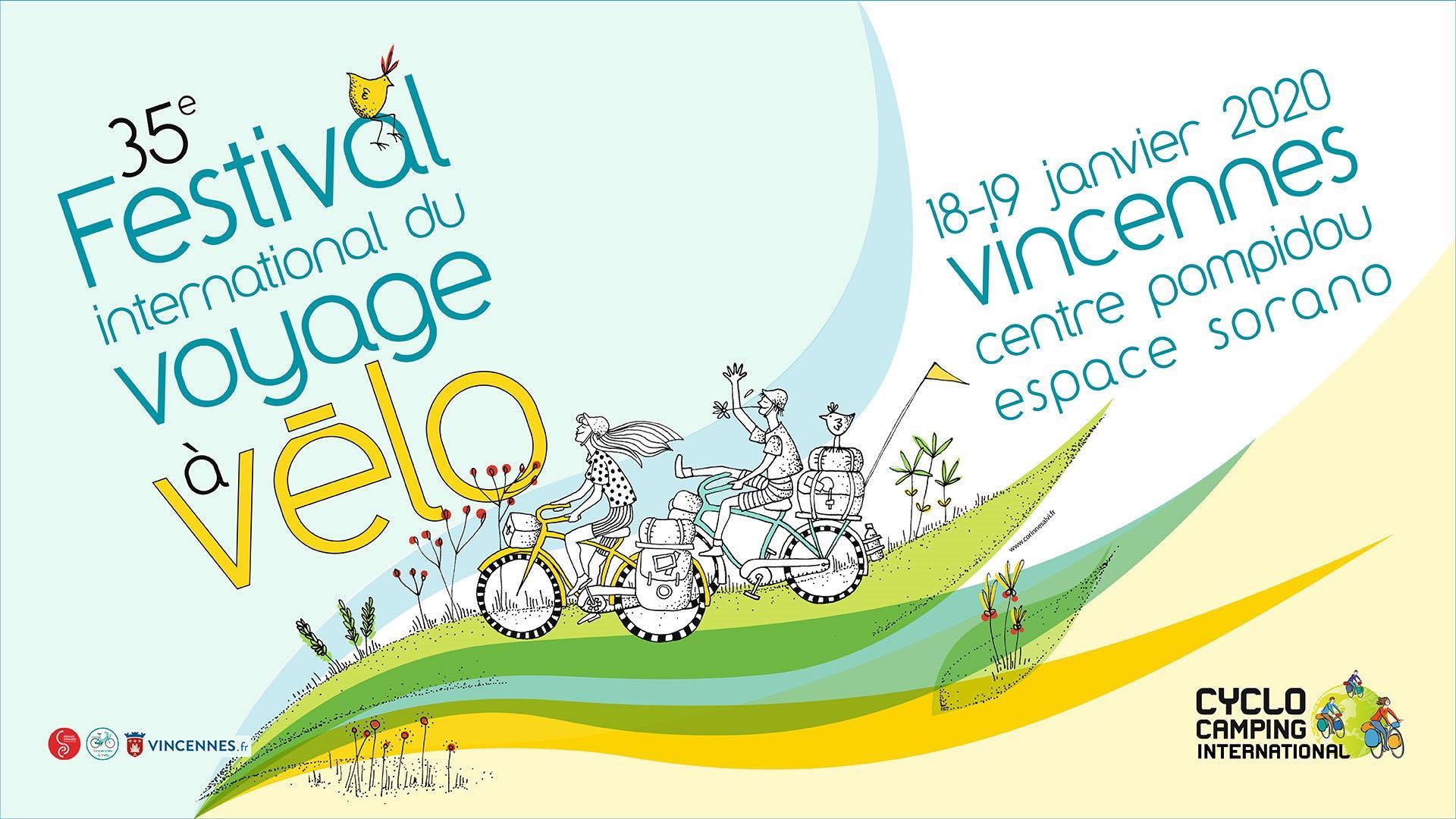 Acier vintage pour voyage au long cours Affiche_Festival_international_voyage_velo_2020